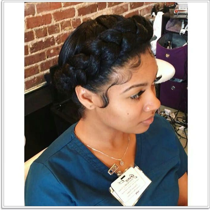 105 Stunning Halo Braid For All Kind Of Event – Style Easily In Most Popular Black Crown Under Braid Hairstyles (View 12 of 25)
