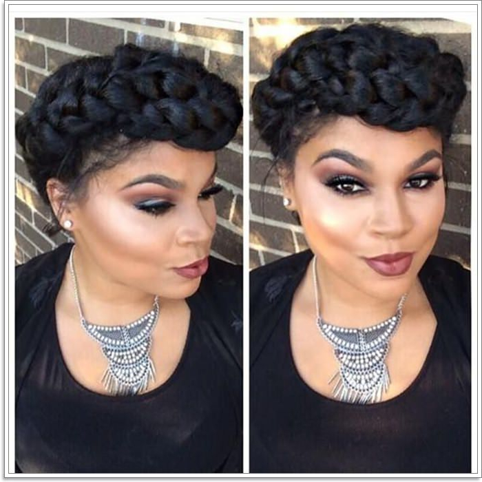 105 Stunning Halo Braid For All Kind Of Event – Style Easily Intended For 2018 Faux Halo Braided Hairstyles For Short Hair (View 9 of 25)