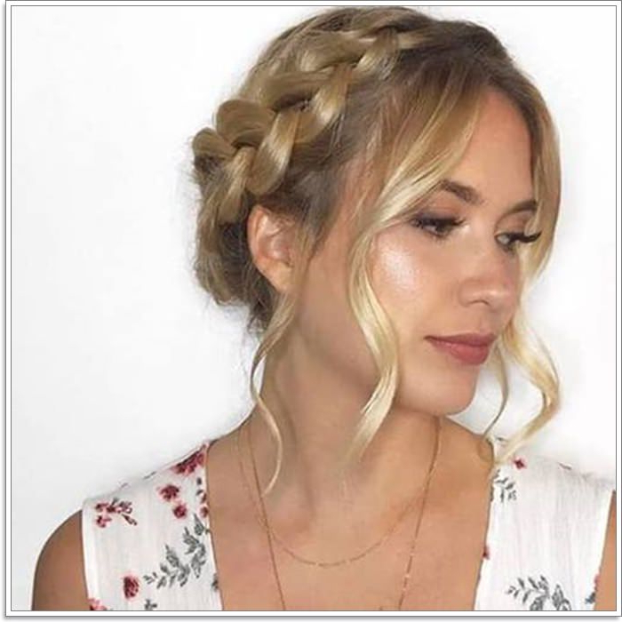 105 Stunning Halo Braid For All Kind Of Event – Style Easily Within Most Popular Halo Braided Hairstyles With Beads (View 23 of 25)