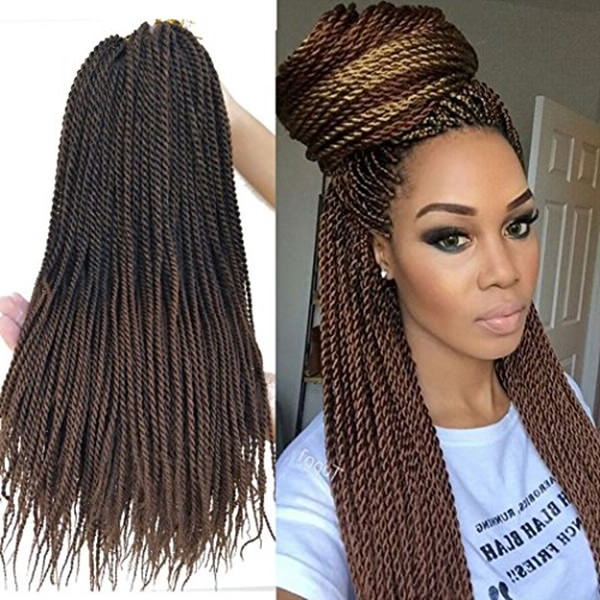 106 Crochet Braids That Gives You A Quirky Glance With Regard To Most Recent Extravagant Under Braid Hairstyles (View 14 of 25)