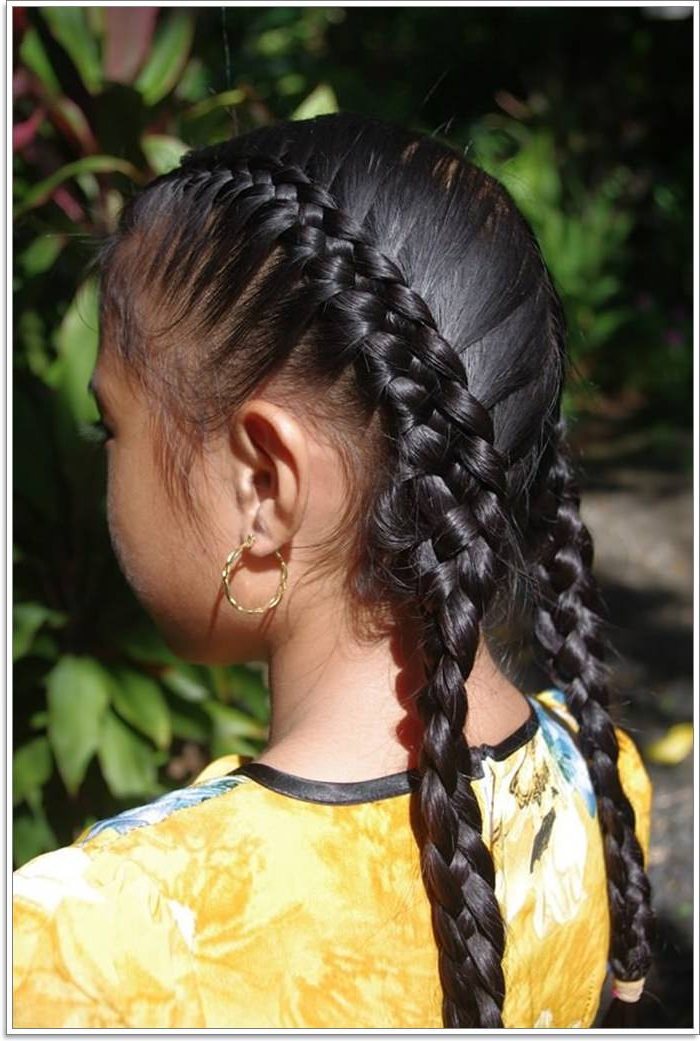 107 French Braid Designs Everyone Loves For Most Current Thick Two Side Fishtails Braid Hairstyles (View 22 of 25)