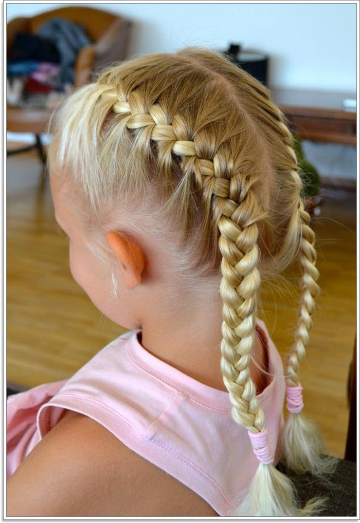 107 French Braid Designs Everyone Loves With Most Recent Golden Blonde Tiny Braid Hairstyles (View 18 of 25)