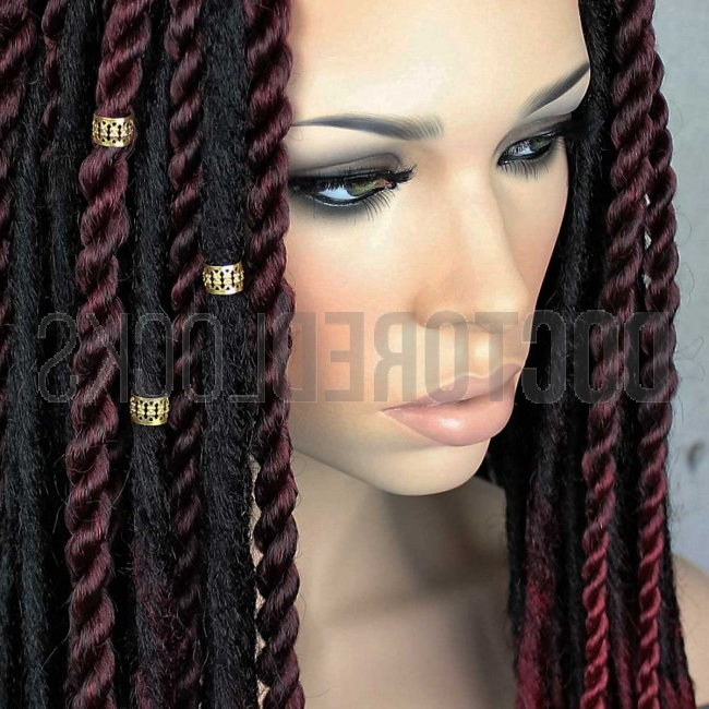 10Mm Rastafri Gold Braid And Dread Cuff 15Pc | Adjustable Inside Most Recent Kanekalon Braids With Golden Beads (View 8 of 25)