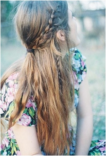 11 Easy And Quick Half Up Braid Hairstyles – Pretty Designs With Regard To Most Recent Boho Half Braid Hairstyles (View 24 of 25)