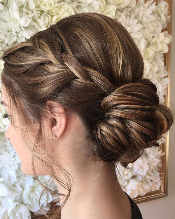 119 Elegant And Chic Braided Updo For Special Occasions In Most Popular Brown Woven Updo Braid Hairstyles (View 8 of 25)