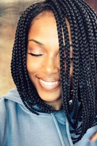 12 Box Braids Bob Hairstyles To Try Out This Season | All Throughout Most Current Asymmetrical Bob Braid Hairstyles (View 17 of 25)