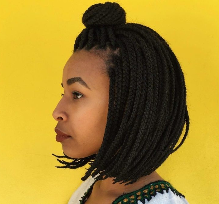 12 Box Braids Bob Hairstyles To Try Out This Season | All Throughout Most Recent Half Up Box Bob Braid Hairstyles (View 5 of 25)