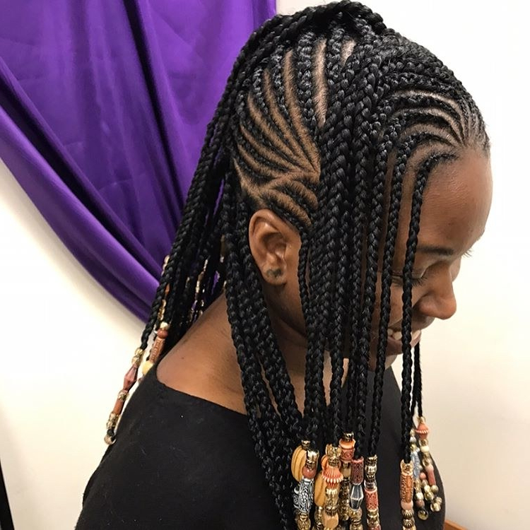 12 Gorgeous Braided Hairstyles With Beads From Instagram With Regard To Most Popular Beaded Bangs Braided Hairstyles (View 25 of 25)