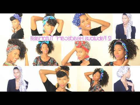 12 Head Scarf Styles For Natural Hair Kasheera Latasha With Best And Newest Forward Braided Hairstyles With Hair Wrap (View 9 of 25)