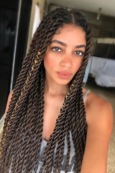 12 Looks That'll Make You Wanna Get Box Twists, Like Right Now With Most Recently Centre Parted Long Plaits Braid Hairstyles (View 7 of 25)