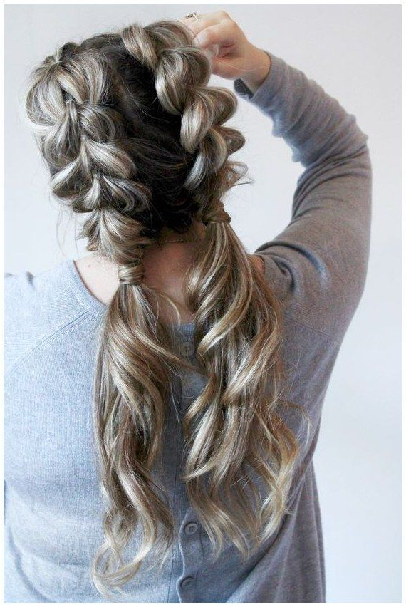 12+ Luscious Girls Hairstyles With Rubberbands Ideas For Best And Newest Blonde Asymmetrical Pigtails Braid Hairstyles (View 9 of 25)
