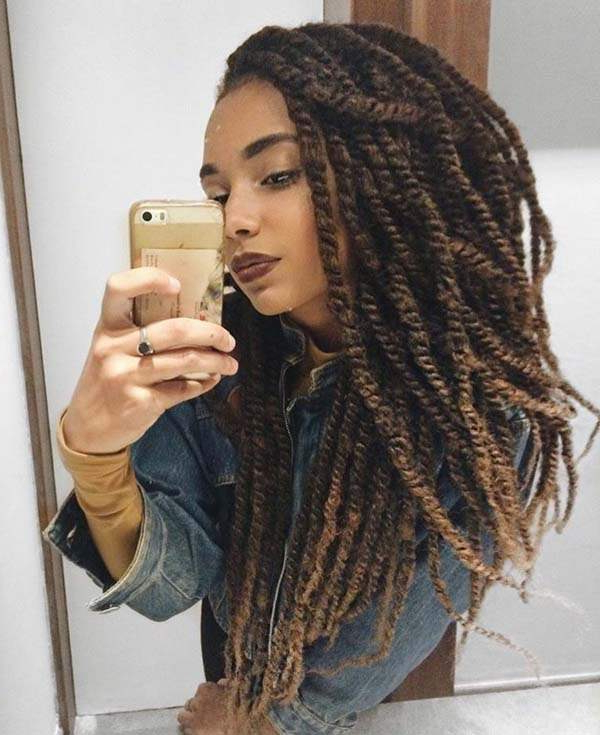 120 Marley Twist Ideas That You Can Try This Year – Pitchzine With 2018 Two Tone Twists Hairstyles With Beads (View 9 of 25)