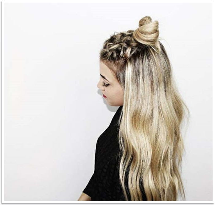 120 Marvellous Half Up Half Down Hairstyles Intended For Most Recent Half Up, Half Down Braid Hairstyles (View 7 of 25)