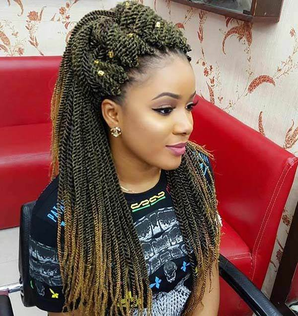 120 Pleasing Senegalese Twist That Will Turn Your Heads With Most Popular Two Tone Twists Hairstyles With Beads (View 22 of 25)