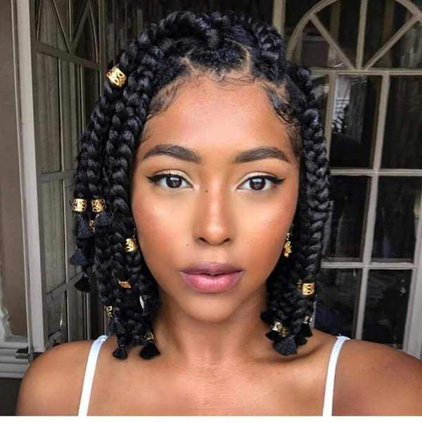 121 Sophisticated Jumbo Box Braids Styles For You Inside Newest Bob Dookie Braid Hairstyles (View 13 of 25)