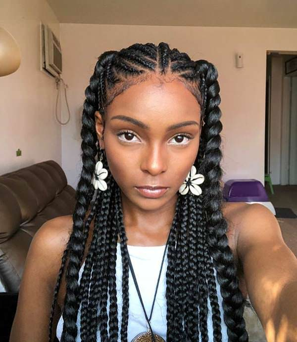 123 African Braids Designs That'll Put Your Hairdresser To With Most Current Thick And Thin Braided Hairstyles (View 14 of 25)