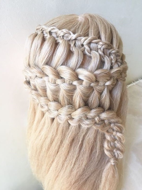 123 Beautiful Waterfall Braid Hairstyles With Tutorial Regarding Most Up To Date Loose 4 Strand Rope Braid Hairstyles (View 14 of 25)