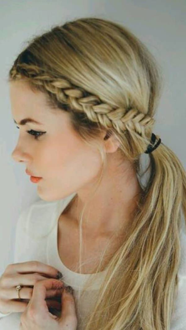125 Artistic Braided Ponytails For 2019 In Most Recently Side Pony And Raised Under Braid Hairstyles (View 5 of 25)