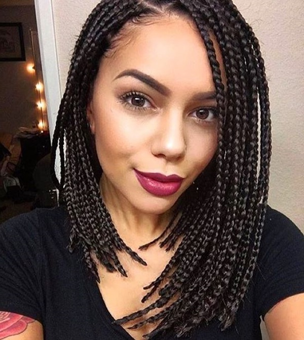 125 Kick Ass Box Braids For Black Women – Sowacs Throughout Recent Black Shoulder Length Braids With Accents (View 13 of 25)