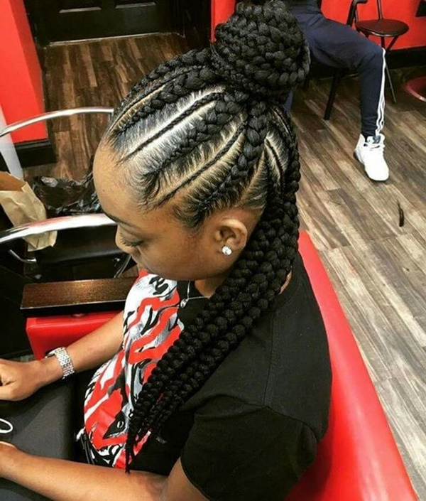 125 Popular Feed In Braid Hairstyles [With Tutorial] For Most Up To Date Thin And Thick Cornrows Under Braid Hairstyles (View 12 of 25)