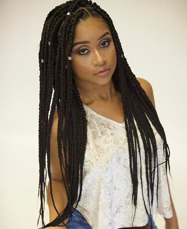 125 Trendy Yarn Braids You Should Wear In Most Recent Half Up Buns Yarn Braid Hairstyles (View 3 of 25)