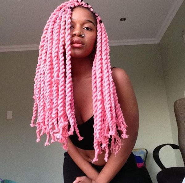 125 Trendy Yarn Braids You Should Wear Pertaining To Most Recently Long Braids With Blue And Pink Yarn (View 11 of 25)