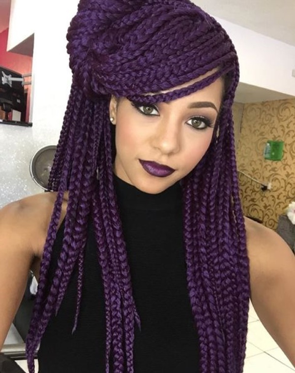 125 Trendy Yarn Braids You Should Wear With Regard To Most Recently Blue Twisted Yarn Braid Hairstyles For Layered Twists (View 23 of 25)