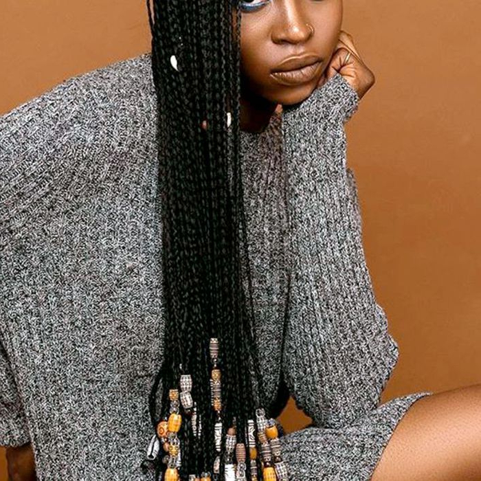 13 Beautiful Hairstyles With Beads You Have To See Inside Most Popular Box Braids And Beads Hairstyles (View 6 of 25)