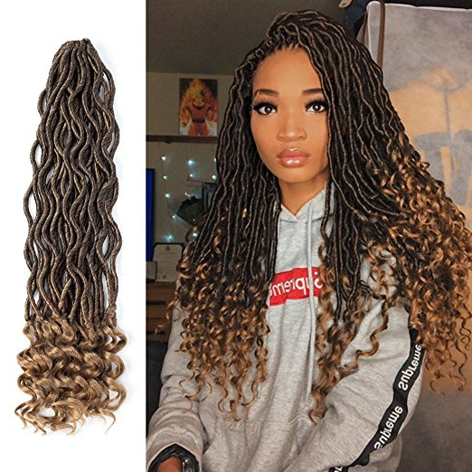 13 Faux Locs Crochet Braiding Hair Styles With Great Reviews In Recent Individual Micro Braids With Curly Ends (View 16 of 25)