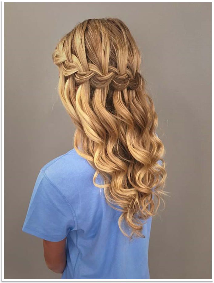 135 Whimsical Half Up Half Down Hairstyles You Can Wear For With Most Recently Pretty Pinned Back Half Updo Braids (View 3 of 25)