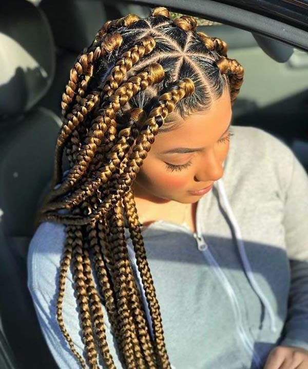 136 Trendy Yarn Braids You Can Wear In 2019! Intended For Newest Geometric Blonde Cornrows Braided Hairstyles (View 13 of 25)