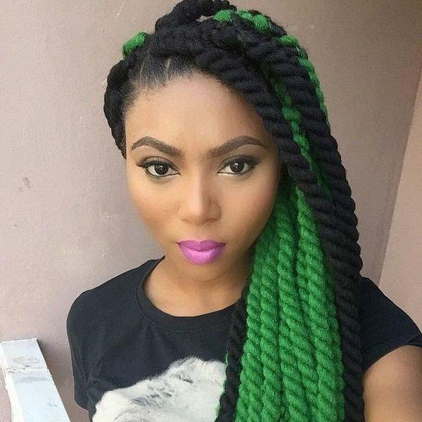 136 Trendy Yarn Braids You Can Wear In 2019! Pertaining To Latest Blue Twisted Yarn Braid Hairstyles For Layered Twists (View 15 of 25)
