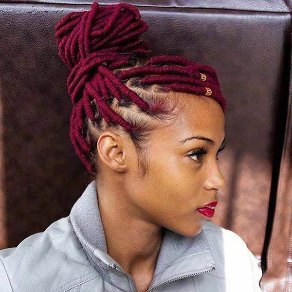 136 Trendy Yarn Braids You Can Wear In 2019! Pertaining To Most Recently Half Up Buns Yarn Braid Hairstyles (View 5 of 25)