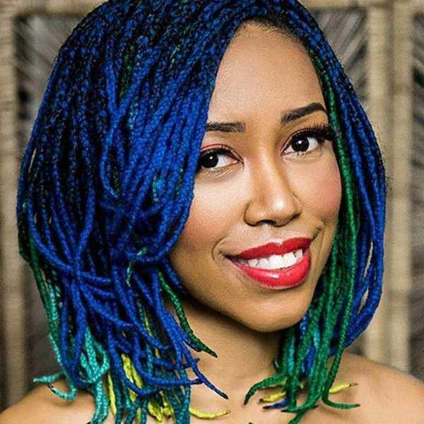 136 Trendy Yarn Braids You Can Wear In 2019! Pertaining To Recent Blue Twisted Yarn Braid Hairstyles For Layered Twists (View 6 of 25)