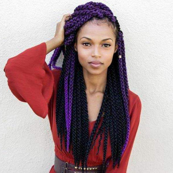 136 Trendy Yarn Braids You Can Wear In 2019! Regarding Recent Skinny Braid Hairstyles With Purple Ends (View 3 of 25)