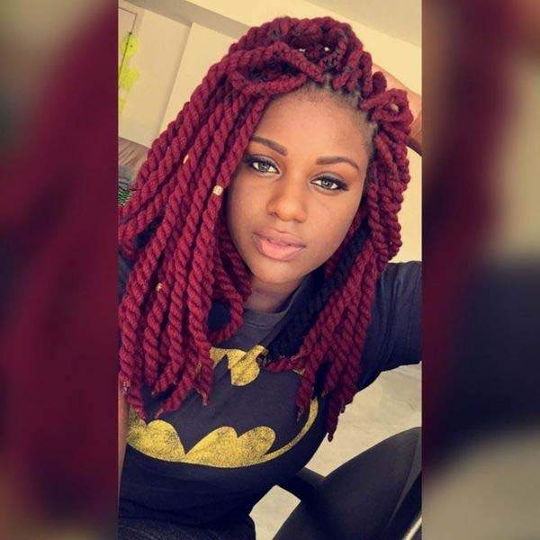 136 Trendy Yarn Braids You Can Wear In 2019! Throughout Most Current Blue Twisted Yarn Braid Hairstyles For Layered Twists (View 11 of 25)