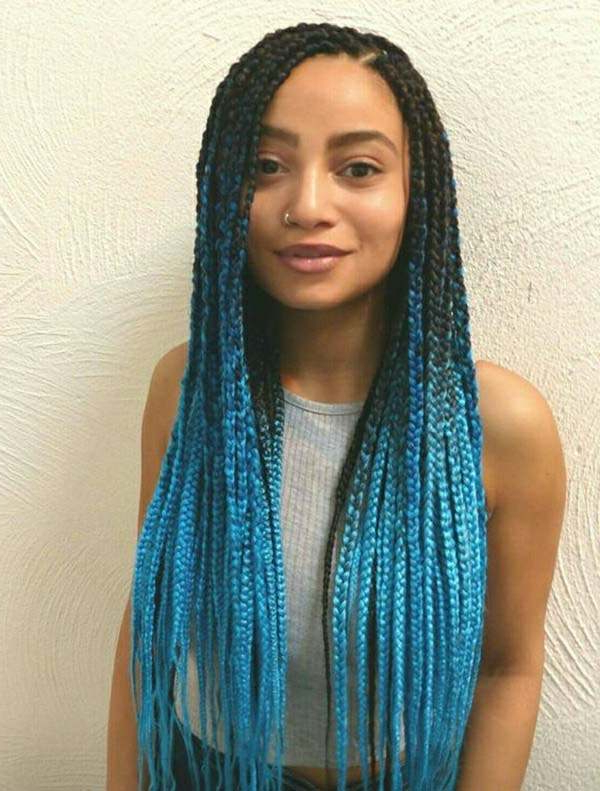 136 Trendy Yarn Braids You Can Wear In 2019! With Most Recently Blue And Gray Yarn Braid Hairstyles With Beads (View 2 of 25)