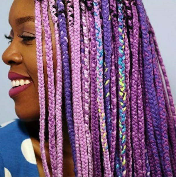 136 Trendy Yarn Braids You Can Wear In 2019! With Most Recently Colorful Yarn Braid Hairstyles (View 9 of 25)