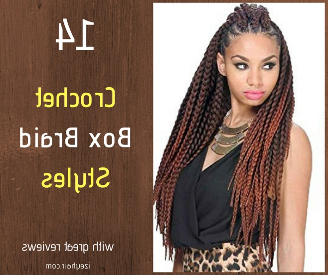 14 Best Crochet Box Braid Styles, Plus Video Tutorial On How With Regard To Newest Red And Brown Micro Braid Hairstyles (View 18 of 25)