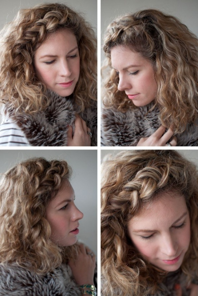 14 Fantastic Hairstyle Tutorials For Short And Naturally In Best And Newest Braided Headband Hairstyles For Curly Hair (View 20 of 25)