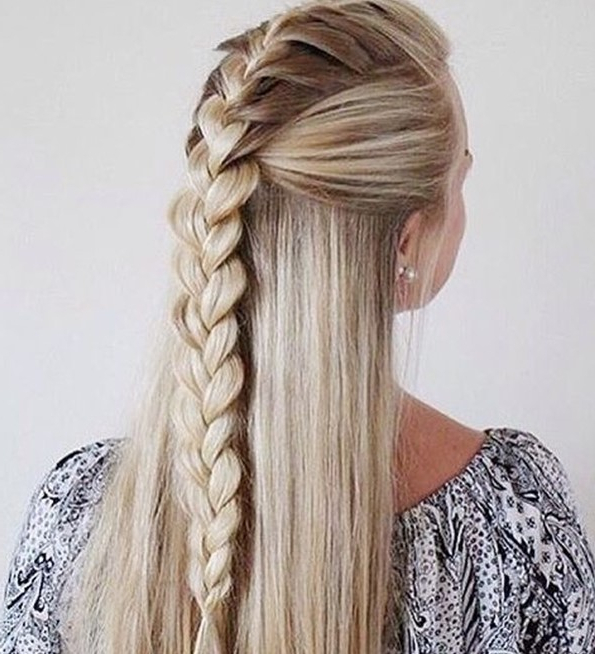 14893 Half Up Half Down Hairstyles For Wedding, Prom Etc Within Recent Half Up, Half Down Braided Hairstyles (View 14 of 25)