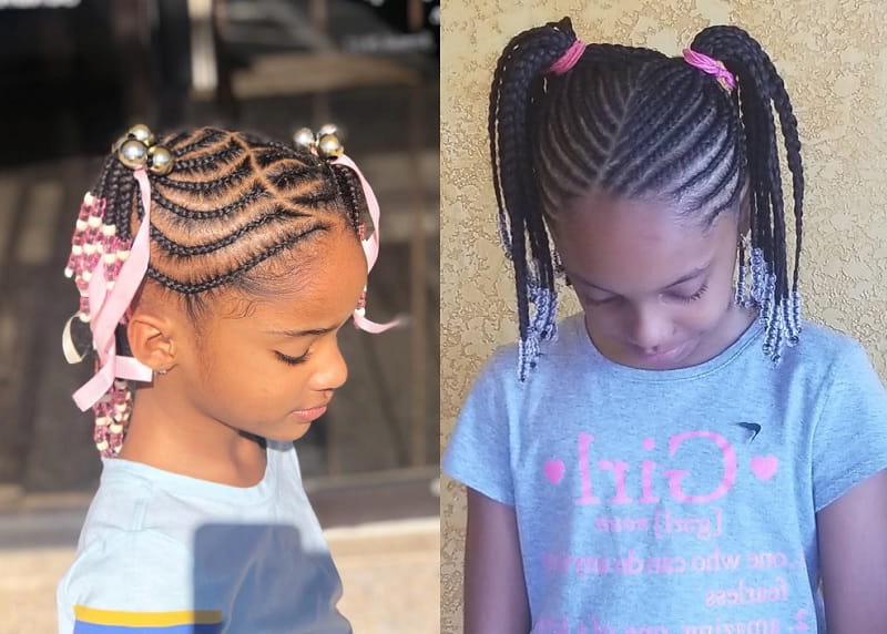 15 Beautiful Hairstyles With Beads For Little Girls [2019] Throughout Recent Beaded Pigtails Braided Hairstyles (View 2 of 25)