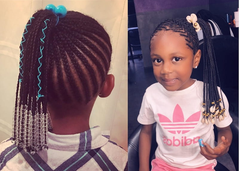 15 Beautiful Hairstyles With Beads For Little Girls [2019] With Regard To Latest Beaded Pigtails Braided Hairstyles (View 5 of 25)