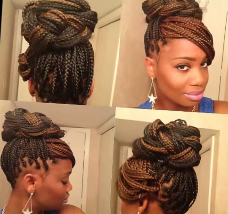 15 Box Braids Hairstyles That Rock – More Within Most Recent Box Braided Bun Hairstyles (View 15 of 25)