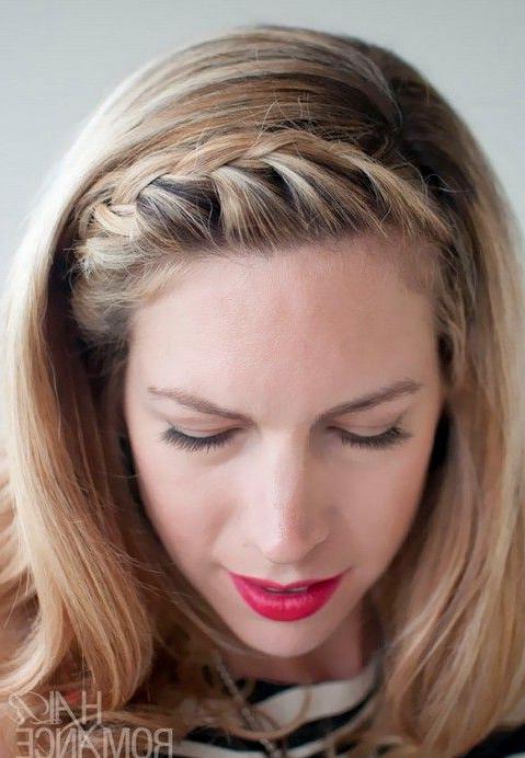 15 Braided Bangs Tutorials: Cute, Easy Hairstyles   Hair With Recent Braid Hairstyles With Braiding Bangs (View 4 of 25)