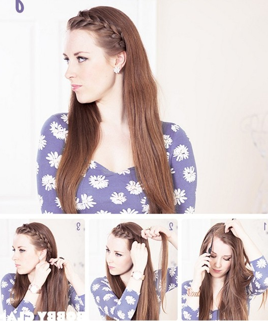 15 Braided Bangs Tutorials: Cute, Easy Hairstyles – Pretty For Most Popular Braid Hairstyles With Braiding Bangs (View 10 of 25)