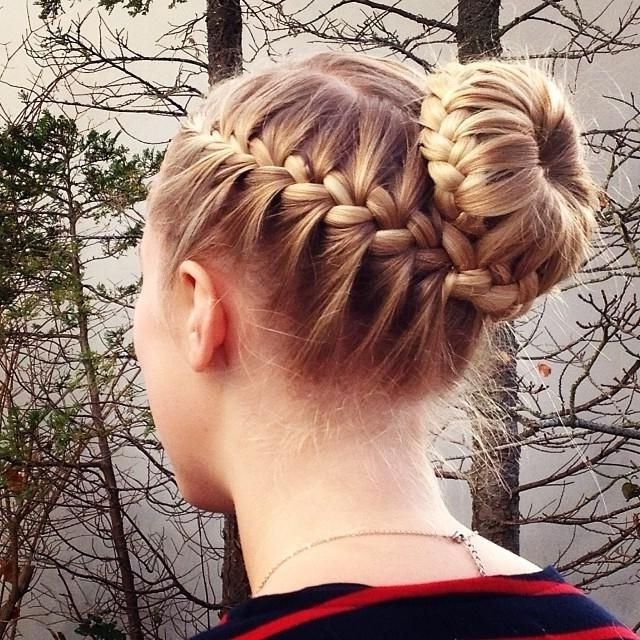 15 Braided Bun Updos Ideas – Popular Haircuts Pertaining To 2018 Braids And Buns Hairstyles (View 14 of 25)
