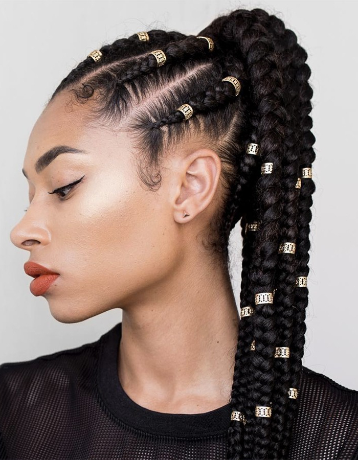 15 Braided Hairstyles You Need To Try Next   Naturallycurly Inside Most Current Chunky Ghana Braid Hairstyles (View 21 of 25)