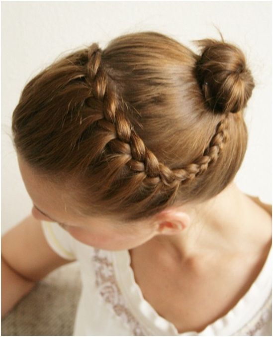 15 Braided Updo Hairstyles Tutorials – Pretty Designs Inside Most Current Braids And Buns Hairstyles (View 7 of 25)