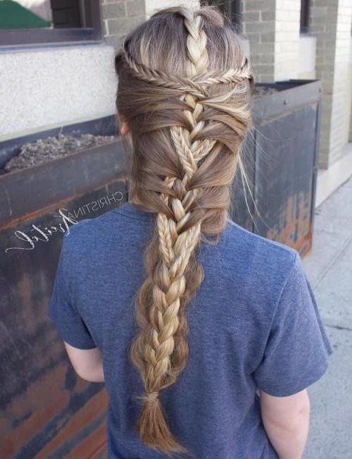 15 Cute And Easy Braided Hairstyles   Hair   Mermaid Braid Throughout Most Recently Braided Mermaid Mohawk Hairstyles (View 6 of 25)